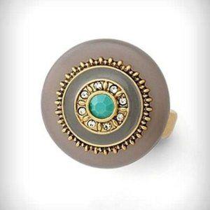 Lia Sophia Olympus Gold Ring 10 NWOT